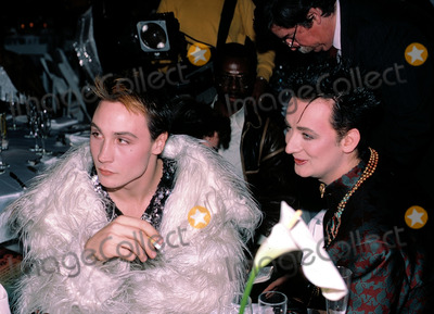 Boy George Photo - Boy George and Marilynduring the taping of the television special Motown Returns to the Apollo Harlem New York May 4 1985Credit McBrideface to face