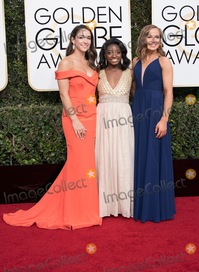 Aly Raisman Photo - 08 January 2016 - Beverly Hills California - Aly Raisman Simone Biles and Madison Kocian74th Annual Golden Globe Awards held at the Beverly Hilton Photo Credit HFPAAdMedia