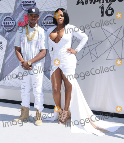 Remy Ma Photo - 26 June 2016 - Los Angeles Papoose Remy Ma Arrivals for the 2016 BET Awards held at the Microsoft Theater Photo Credit Birdie ThompsonAdMedia