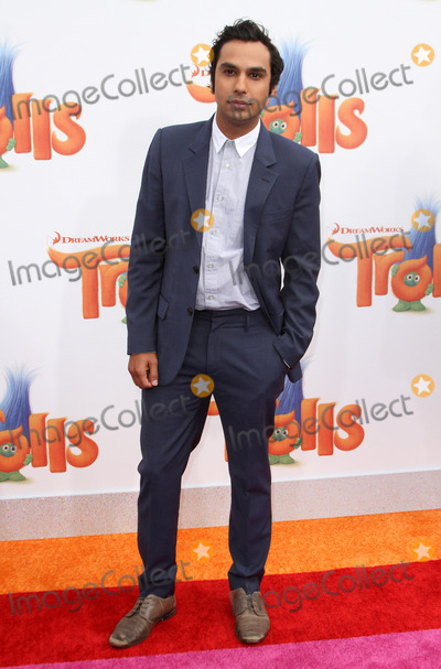 Kunal Nayyar Photo - 23 October 2016 - Los Angeles California - Kunal Nayyar Trolls Los Angeles Premiere held at the Regency Village Theatre in Los Angeles Photo Credit AdMedia