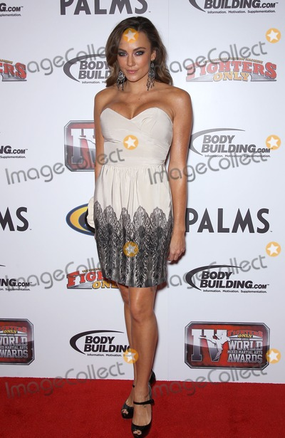 Amber Nicole Photo - 30 November 2011 - Las Vegas Nevada - Amber Nicole   4th Annual Fighters Only World Mixed Martial Arts Awards 2011 red carpet at the Palms Casino Resort  Photo Credit MJTAdMedia