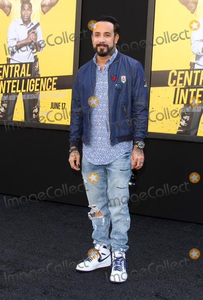 AJ McLean Photo - 10 June 2016 - Los Angeles California - AJ McLean Central Intelligence Los Angeles Premiere held at Westwood Village Theatre Photo Credit AdMedia