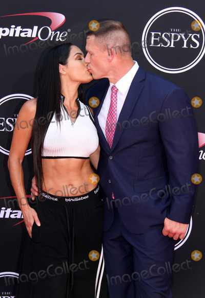 Nikki Bella Photo - 12 July 2017 - Los Angeles California - Nikki Bella and John Cena 2017 ESPYS Awards Arrivals held at the Microsoft Theatre in Los Angeles Photo Credit AdMedia