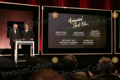 Ang Lee Photo - 14 January 2016 - Beverly Hills California - Ang Lee Guillermo del Toro Category Animated Short Film 88th Annual Oscars Nominations Announcement held at the Samuel Goldwyn Theater Photo Credit Byron PurvisAdMedia