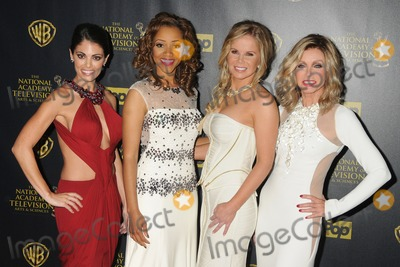 Chrystee Pharris Photo - 26 April 2015 - Burbank California - Lindsay Hartley Chrystee Pharris Crystal Hunt Donna Mills The 42nd Annual Daytime Emmy Awards - Press Room held at Warner Bros Studios Photo Credit Byron PurvisAdMedia