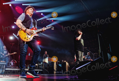 Adam Duritz Photo - 12 May 2015 - Hamilton Ontario Canada  Dan Vickrey (guitarist) Adam Duritz (vocalist) David Bryson (guitarist) and Charlie Gillingham (keyboardist) of Counting Crows perform on stage at Hamilton Place Theatre Photo Credit Brent PerniacAdMedia