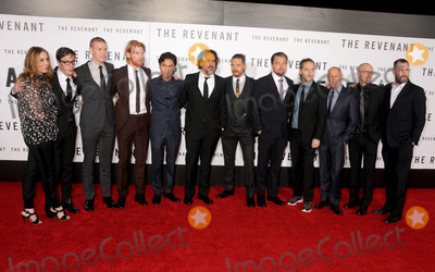 Tom Hardy Photo - 16 December 2015 - Hollywood California - Mary Parent Joshua Burge Will Poulter Domhnall Gleeson Forrest Goodluck Alejandro Gonzalez Inarritu Tom Hardy Leonardo DiCaprio Emmanuel Lubezki Steve Golin Mark L Smith Kevin Redmon The Revenant Los Angeles Premiere held at the TCL Chinese Theatre Photo Credit Byron PurvisAdMedia