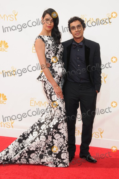 Kunal Nayyar Photo - 25 August 2014 - Los Angeles California - Neha Kapur Kunal Nayyar 66th Annual Primetime Emmy Awards - Arrivals held at Nokia Theatre LA Live Photo Credit Byron PurvisAdMedia