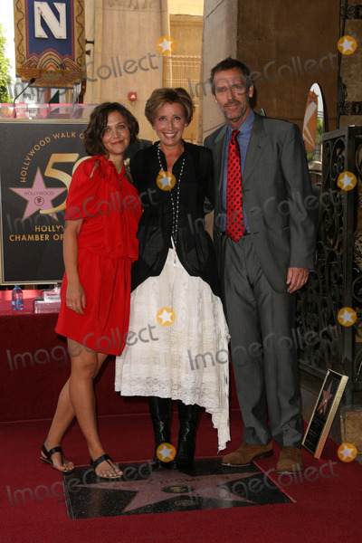 Emma Thompson Photo - Maggie Gyllenhaal Emma Thompson Hugh Laurieat the induction ceremony for Emma Thompson into the Hollywood Walk of Fame Hollywood CA 08-06-10