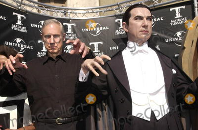 Bela Lugosi Jr Photo -  BELA LUGOSI JR at the unveiling of Madame Tussauds lifelike wax portraits of Dracula Frankensteins Monster and The Mummy Universal Studios 10-10-01