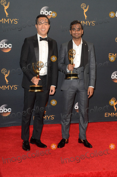 Alan Yang Photo - Alan Yang Aziz Ansariat the 68th Annual Primetime Emmy Awards Press Room Microsoft Theater Los Angeles CA 09-18-16