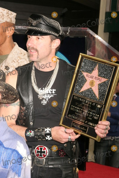 Village People Photo - Eric Anzalone at the Hollywood Walk of Fame Ceremony Honoring the Band The Village People  Hollywood Boulevard Hollywood CA 09-12-08