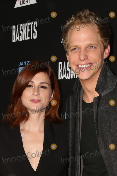 Aya Cash Photo - vLOS ANGELES - JAN 14  Aya Cash Chris Geere at the Baskets Red Carpet Event at the Pacific Design Center on January 14 2016 in West Hollywood CA