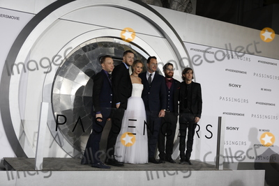 Jennifer Lawrence Photo - LOS ANGELES - DEC 14  Imagine Dragons Ben McKee Dan Reynolds Jennifer Lawrence Chris Pratt Daniel Platzman Daniel Wayne Sermon at the Passengers Premiere at Village Theater on December 14 2016 in Westwood CA