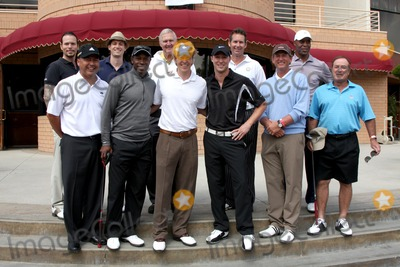 Al Michaels Photo - LOS ANGELES - APR 18  Back Row l-r Sean McNabb Zack Conroy Jerry West Pro Golfer Marcus Allen Front Row l-r  Golf Pro Kenny Lofton Jack Wagner Kyle Lowder Rick Neuheisel Al Michaels at the 2011 Jack Wagner Golf Classic to benefit The Leukemia  Lymphoma Society at Valencia Country Club on April 18 2011 in Valencia  CA