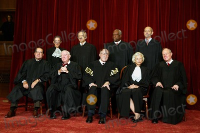 Stephen Breyer Photo - The justices of the United States Supreme Court gather for a group portrait at the Supreme Court Building in Washington DC on  December 5 2003  Traditionally the justices pose for a group portrait only when there is a change  The court has not changed in nine years  Left to right in front row are Associate Justice Antonin Scalia Associate Justice John Paul Stevens  Chief Justice of the United States William Hubbs Rehnquist  Associate Justice Sandra Day OConnor  and Associate Justice Anthony M Kennedy Back row from left are Associate Justice Ruth Bader Ginsburg  Associate Justice David Hackett Souter  Associate Justice Clarence Thomas  and Associate Justice Stephen Breyer