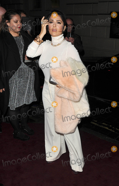 Salma Hayek Photo - Photo by KGC-305starmaxinccomSTAR MAXCopyright 2015ALL RIGHTS RESERVEDTelephoneFax (212) 995-119612315Salma Hayek is seen at a Christmas party(London England UK)
