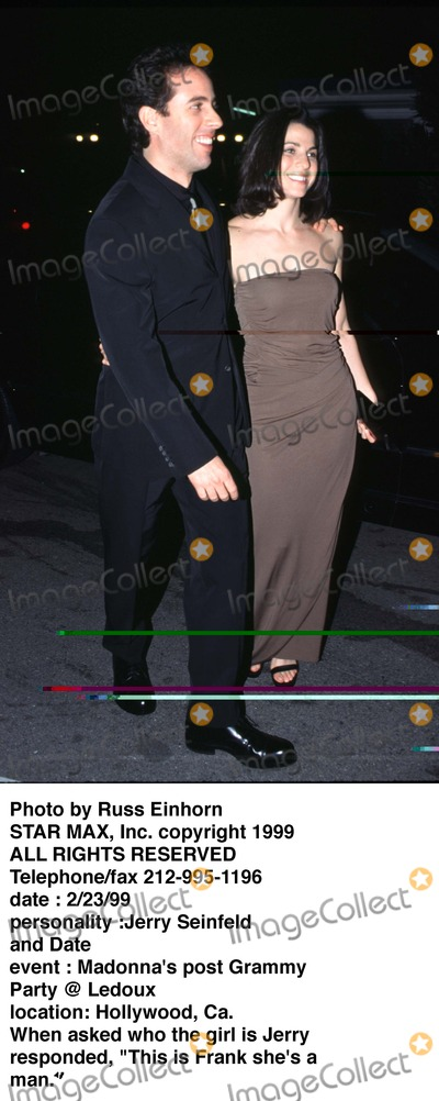 Jerry Seinfeld Photo - Photo by Russ EinhornSTAR MAX Inc - copyright 1999Jerry Seinfeld and Jessica Skylar
