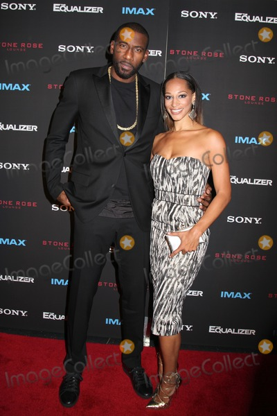 Amare Stoudemire Photo - Photo by HQBstarmaxinccomSTAR MAX2014ALL RIGHTS RESERVEDTelephoneFax (212) 995-119692214Amare Stoudemire and Alexis Stoudemire at the premiere of The Equalizer(NYC)
