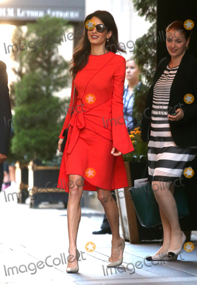 Amal Clooney Photo - Photo by KGC-146starmaxinccomSTAR MAX2016ALL RIGHTS RESERVEDTelephoneFax (212) 995-119692216Amal Clooney is seen in New York City