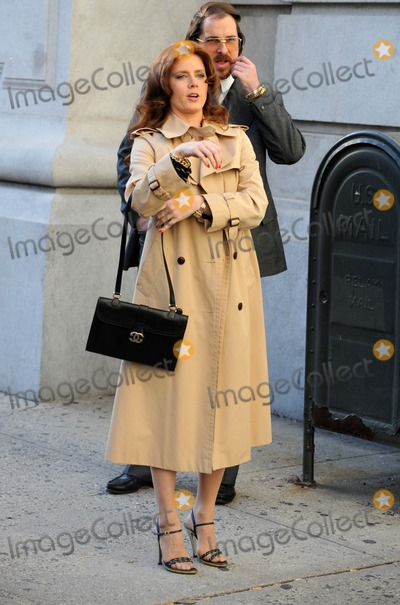 Amy Adams Photo - Photo by Dennis Van Tinestarmaxinccom2013starmaxinccomALL RIGHTS RESERVEDTelephoneFax (212) 995-119651713Christian Bale and Amy Adams on the set of American Hustle(NYC)