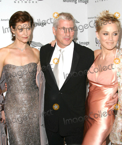 Sharon Stone Photo - Photo by David Greenmanstarmaxinccom200442004Richard Gere Carey Lowell and Sharon Stone at the American Museum of the Moving Image gala(Waldorf  Astoria Hotel NYC)