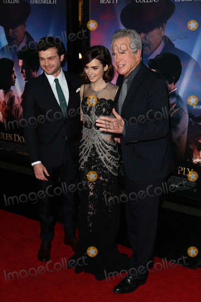Alden Ehrenreich Photo - Photo by gotpapstarmaxinccomSTAR MAX2016ALL RIGHTS RESERVEDTelephoneFax (212) 995-1196111016Alden Ehrenreich Lily Collins and Warren Beatty at The AFI FEST 2016 premiere of Rules Dont Apply(Los Angeles CA)
