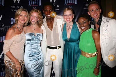 Anika Larsen Photo - Olivia Newton-john with Patti Murin Andre Ward Anika Larsen Kenita R Miller and Marty Thomas at the Opening Night Party For Xanadu at Providence in New York City on July 10 2007 Photo by Henry McgeeGlobe Photos Inc 2007