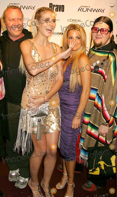 Alexandra Vidal Photo - Michael Kors and Heidi Klum with Alexandra Vidal and Jay Mccarroll (Project Runway Contestants) Arriving at a Launch Party For Bravos Project Runway at Pm Lounge in New York City on 11-30-2004 Photo by Henry McgeeGlobe Photos Inc 2004