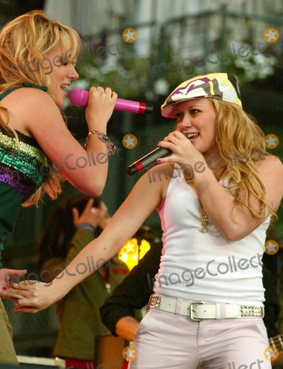 Hilary Duff Photo - Hilary Duff and Hailey Duff Performing on Abc Good Morning Americas 2004 Summer Concert Series at Bryant Park in New York City on July 16 2004 Photo by Henry McgeeGlobe Photos Inc 2004
