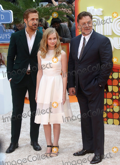 Angourie Rice Photo - May 19 2016 - Russell Crowe Angourie Rice and Ryan Gosling attending UK Premiere of The Nice Guys at Odeon Leicester Square in London UK