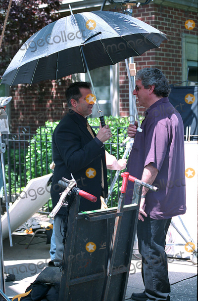 Harold Ramis Photo - Director Harold Ramis and actor Anthony LaPaglia on the set of Analyze That the sequel to a popular 1999 comedy Analyze This Washington Square New York May 6 2002