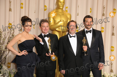 Angus Wall Photo - February 26 2012 LA(L-R) Actress Tina Fey editors Kirk Baxter and Angus Wall and actor Bradley Cooper in the press room at the 84th Annual Academy Awards at the Hollywood  Highland Center on February 26 2012 in Hollywood California