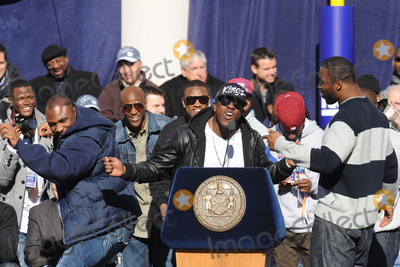 Andre Brown Photo - Brandon Jacobs Andre Brown and Justin Tuck attends the Giants Victory Parade for Super Bowl XLVI on February 7 2012 in New York City