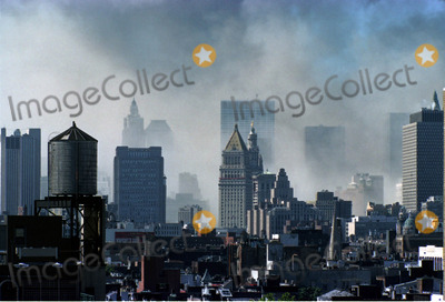 MANHATTAN SKYLINE Photo - Manhattan skyline after the World Trade Centre  Terrorist Attack in New York September 11 2001