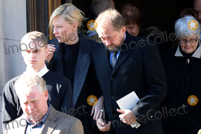 Philip Seymour Hoffman Photo - February 7 2014 New York CityCate Blanchett and Andrew Upton attending Philip Seymour Hoffmans funeral at St Ignatius Loyola Church in Manhattan on February 7 2014 in New York City