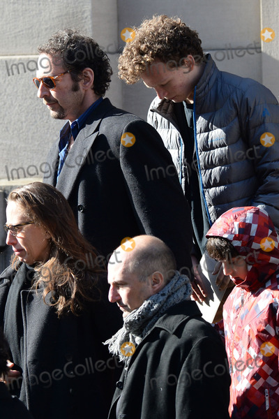 Philip Seymour Hoffman Photo - February 7 2014 New York CityDavid Bar Katz attending Philip Seymour Hoffmans funeral at St Ignatius Loyola Church in Manhattan on February 7 2014 in New York City