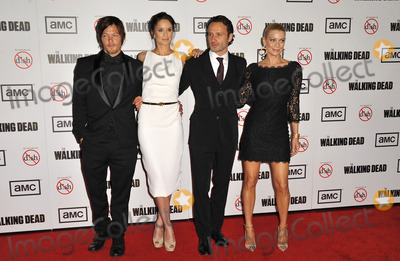 Norman Reedus Photo - October 4 2012 LANorman Reedus Sarah Wayne Callies Andrew Lincoln and Laurie Holden at the premiere of The Walking Dead Season 3 held at Universal CityWalk on October 4 2012 in Universal City California