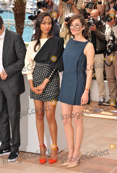 Zoe Saldana Photo - Zoe Saldana  Marion Cotillard (right) at the photocall for their movie Blood Ties at the 66th Festival de CannesMay 20 2013  Cannes FrancePicture Paul Smith  Featureflash