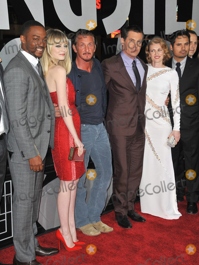 Michael Pena Photo - LtoR Anthony Mackie Emma Stone Sean Penn Josh Brolin Mireielle Enos  Michael Pena at the world premiere of their movie Gangster Squad at Graumans Chinese Theatre HollywoodJanuary 7 2013  Los Angeles CAPicture Paul Smith  Featureflash