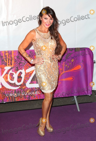 Albert Hall Photo - Lizzie Cundy arriving for the press night of Cirque Du Soleils Kooza at The Royal Albert Hall London 08012013  Picture by Alexandra Glen  Featureflash