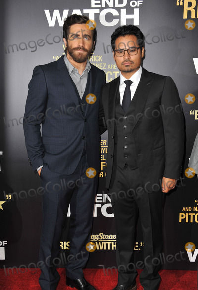 Jake Gyllenhaal Photo - Jake Gyllenhaal  Michael Pena (right) at the premiere of their movie End of Watch at the Regal Cinemas LA LiveSeptember 17 2012  Los Angeles CAPicture Paul Smith  Featureflash