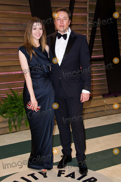 ELON MUSK Photo - Elon Musk and Talulah Riley arriving for the 2014 Vanity Fair Oscars Party Los Angeles 02032014 Picture by James McCauleyFeatureflash