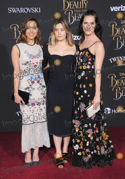 Aubrey Plaza Photo - HOLLYWOOD CA - MARCH 2 (L-R) Actresses Aubrey Plaza guest and Katie Aselton attend Disneys Beauty And The Beast World Premiere at El Capitan Theatre on March 2 2017 in Hollywood California  (Photo by Barry KingImageCollectcom)