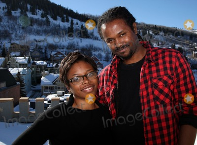 Aaliyah Photo - Producer Aaliyah Willams and director Julian Breece (R) pictured during their portrait session at the 2009 Sundance Film Festival on January 16 2009 in Park City Utah