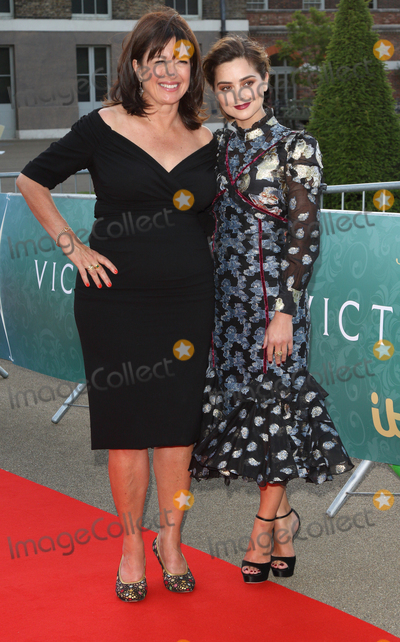 Jenna Coleman Photo - London UK  Daisy Goodwin and Jenna Coleman  at the World Premiere of the new ITV series Victoria (about the early years of the life Queen Victoria)at Kensington Palace London 11th August 2016 Ref LMK73-61281-120816Keith MayhewLandmark MediaWWWLMKMEDIACOM