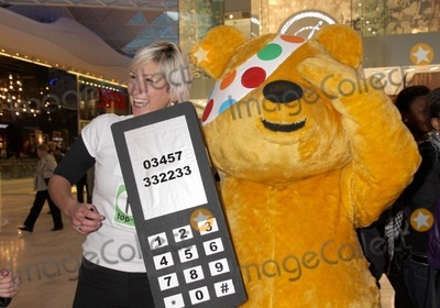 Pudsey Bear Photo - London UK Pudsey Bear at he Opening of Westfield Shopping centre in White City London 30th October 2008Rory ArargeeLandmark Media