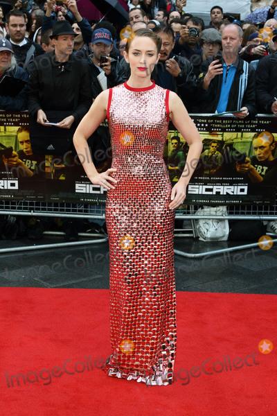 Emily Blunt Photo - London UK Emily Blunt at the UK Premiere of Sicario at Empire Leicester Square London on September 21st 2015Ref LMK73-58282-220915Keith MayhewLandmark Media WWWLMKMEDIACOM