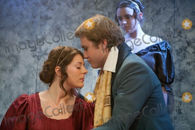 Amanda Redman Photo - London UK  L-R Rhiannon Sommers as Mary Shelley  Joe Bannister as Percy Bysshe Shelley with Emily Glenister as Harriet Westbrook (back) (niece of Philip Glenister and the daughter of actress Amanda Redman)   in the photocall for the play Bloody Poetry by Howard Brenton The play is set in the early 19th century and focuses on the relationship between the poets Percy Bysshe Shelley  Lord Byron Mary Shelley and Claire Clairemont  Jermyn Street Theatre London The play is on for a four week run at the theatre starting 1st February 2012   2nd February 2012  Taya UddinLandmark Media