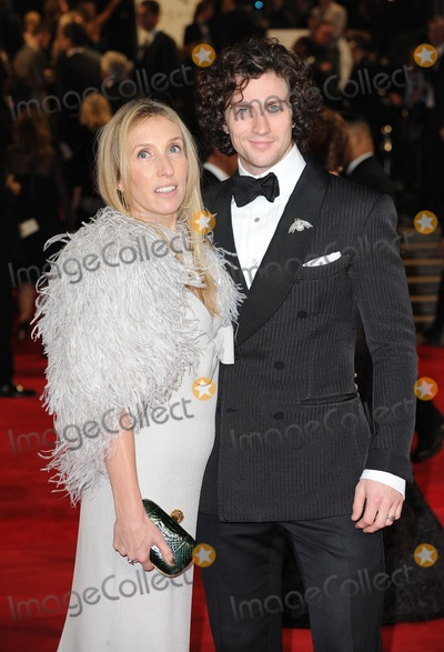 Aaron Johnson Photo - London UK  231012Sam Taylor-Wood with Aaron Johnson at the Royal World Premiere of the film Skyfall held at the Royal Albert Hall in Kensington23 October 2012Landmark Media